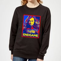 Avengers Endgame Captain Marvel Poster Women's Sweatshirt - Black - XL - Black from Avengers: Endgame
