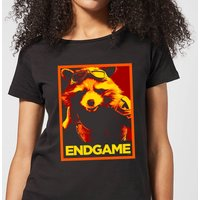 Avengers Endgame Rocket Poster Women's T-Shirt - Black - M - Black from Avengers: Endgame