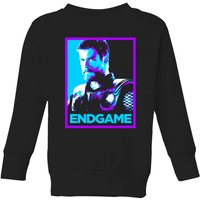 Avengers Endgame Thor Poster Kids' Sweatshirt - Black - 7-8 Years - Black from Avengers: Endgame