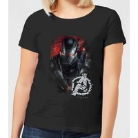 Avengers Endgame War Machine Brushed Women's T-Shirt - Black - M - Black from Avengers: Endgame