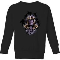 Avengers Endgame Warlord Thanos Kids' Sweatshirt - Black - 7-8 Years - Black from Avengers: Endgame