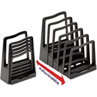 Adjustable File Rack, Five Sections, 8 x 10 1/2 x 11 1/2, Black from Avery