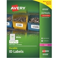 Avery Permanent Durable ID Labels with TrueBlock Technology from Avery