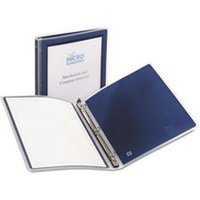 "Flexi-View Binder w/Round Rings, 11 x 8 1/2, 1/2"" Cap, Navy Blue from Avery"
