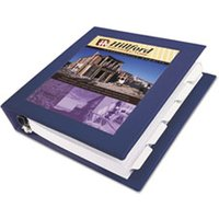 "Framed View Heavy-Duty Binder w/Locking 1-Touch EZD Rings, 1 1/2"" Cap, Navy Blue from Avery"