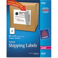 Full-Sheet Labels with TrueBlock Technology, Laser, 8 1/2 x 11, White, 25/Pack from Avery