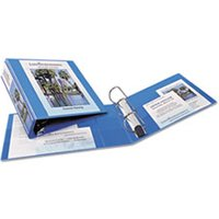 "Heavy-Duty Non Stick View Binder w/Slant Rings, 3"" Cap, Light Blue from Avery"