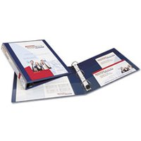 "Heavy-Duty View Binder w/Locking 1-Touch EZD Rings, 1"" Cap, Navy Blue from Avery"