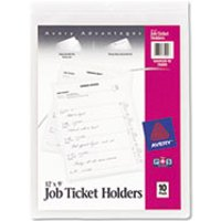Job Ticket Holders, Heavy Gauge Vinyl, 9 x 12, Clear, 10/Pack from Avery