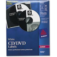 Laser CD Labels, Matte White, 40/Pack from Avery
