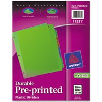 Preprinted Plastic Tab Dividers, 12-Tab, Letter from Avery