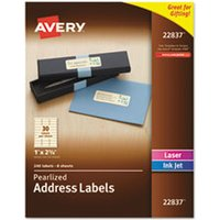 Rectangle Labels, 1 x 2 5/8, Pearl Ivory, 240/Pack from Avery