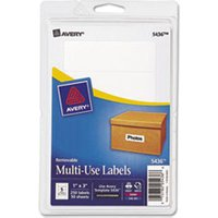 Removable Multi-Use Labels, 1 x 3, White, 250/Pack from Avery