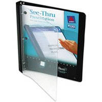 "See-Thru View Binder w/Round Rings, 11 x 8 1/2, 1/2"" Cap, Black from Avery"