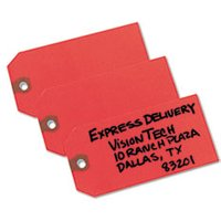 Unstrung Shipping Tags, Paper, 4 3/4 x 2 3/8, Red, 1,000/Box from Avery
