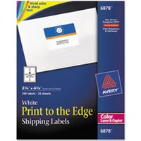 Vibrant Color-Printing Shipping Labels, 3 3/4 x 4 3/4, White, 100/Pack from Avery