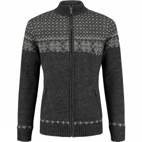 Mens Nordic Wood Knit Jacket from Ayacucho