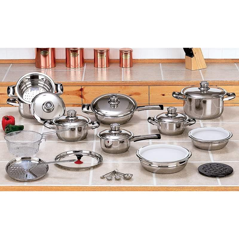 28pc 12-Element Surgical Stainless Steel Cookware Set from B&F System, Inc.