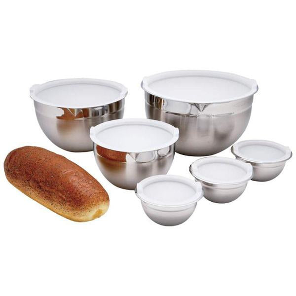 Chef's Secret® 12pc Surgical Stainless Steel Mixing Bowl Set from B&F System, Inc.