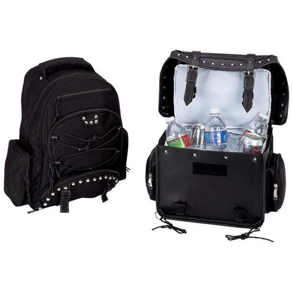 Diamond Plate™ Heavy-Duty PVC Motorcycle Cooler Bag and Backpack from B&F System, Inc.