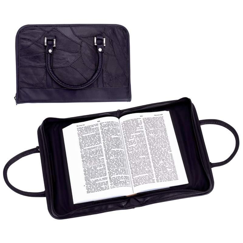 Embassy Italian Stone Design Genuine Lambskin Leather Bible Purse from B&F System, Inc.