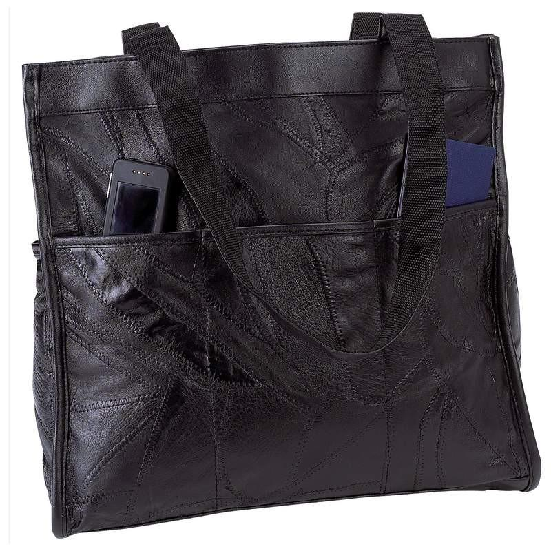 Embassy Italian Stone Design Genuine Leather Shopping/Travel Bag from B&F System, Inc.