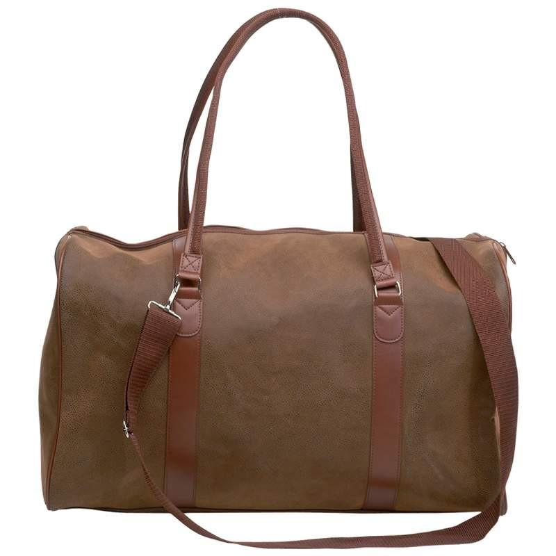 "Embassy Travel Gear 21"" Brown Faux Leather Tote Bag from B&F System, Inc."