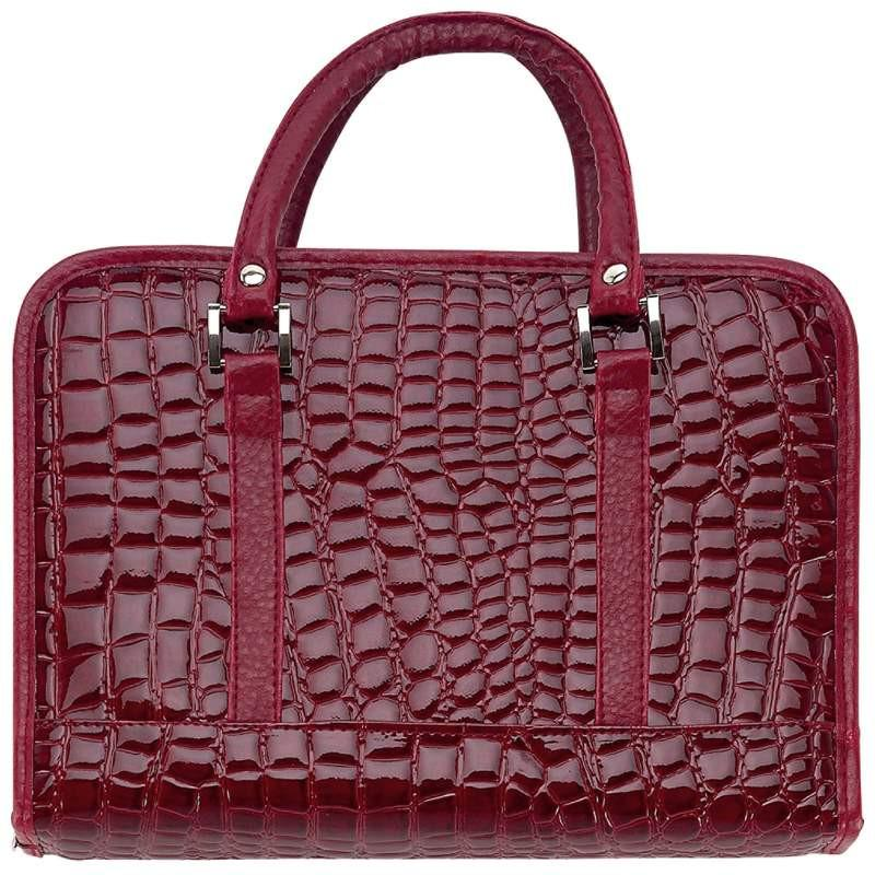 Gigi Chantal Burgundy Faux Alligator Bible Cover from B&F System, Inc.