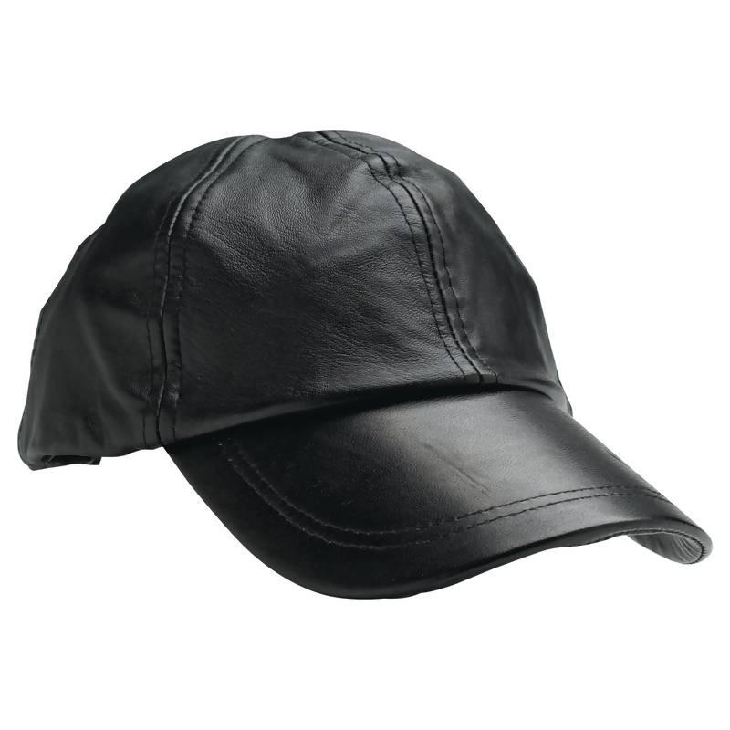 Giovanni Navarre® Solid Genuine Leather Baseball Cap from B&F System, Inc.