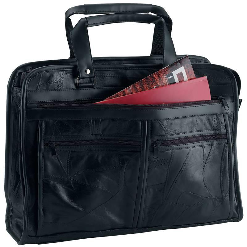 Maxam® Brand Italian Mosaic Design Genuine Leather Briefcase from B&F System, Inc.