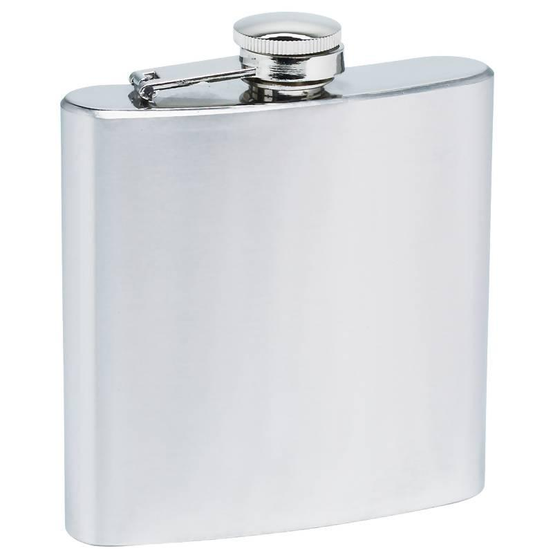 Maxam 6oz Stainless Steel Flask with Screw Down Cap from B&F System, Inc.