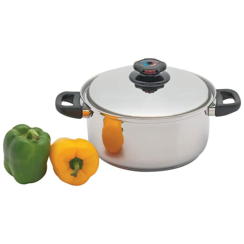 Precise Heat 5.5qt 12-Element Surgical Stainless Steel Stockpot with Vented Lid from B&F System, Inc.