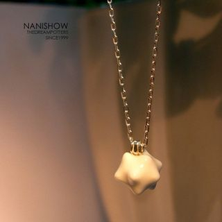 Ceramic Charm Necklace White - One Size from BABOSARANG