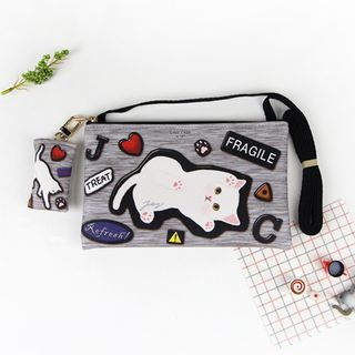 Choo Choo Cat Series Mini Cross Bag GRAY PATCH - One Size from BABOSARANG