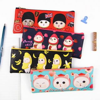 Choo Choo Cat Series Pencil Pouch from BABOSARANG