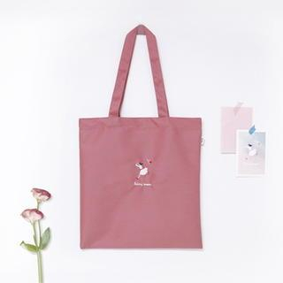 Embroidered Canvas Shopper Bag Light Pink - One Size from BABOSARANG
