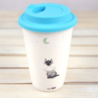 Kits The Street Cat Series Ceramic Tumbler Ivory - One Size from BABOSARANG