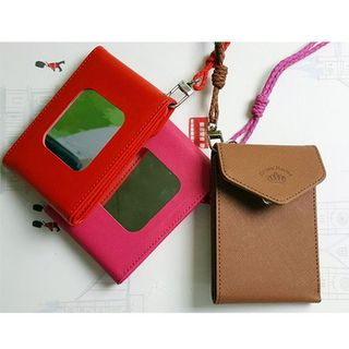 Portable Mirror Card Wallet with Neck-Strap from BABOSARANG