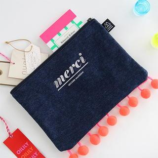 Pom-Pom Lettering Pouch from BABOSARANG
