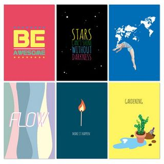 Post Card Set (14pcs) Multicolor - One Size from BABOSARANG