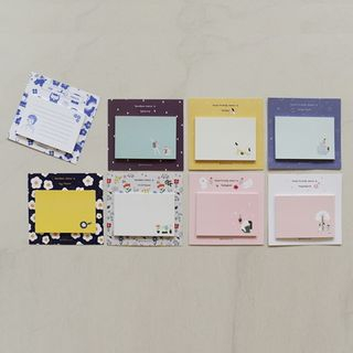 Set of 8: Printed Memo Pad (S) Multicolor - One Size from BABOSARANG