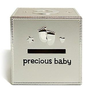 Silver-Plating Cube Coin Bank Silver - One Size from BABOSARANG