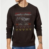 Back To The Future Back In Time for Christmas Sweatshirt - Black - XXL - Black from Back To The Future