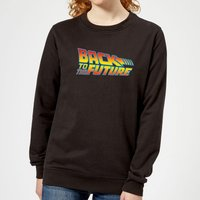 Back To The Future Classic Logo Women's Sweatshirt - Black - XS - Black from Back to the Future