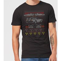 Back To The Future Back In Time for Christmas Men's T-Shirt - Black - XS - Black from Back to the Future