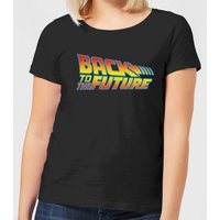 Back To The Future Classic Logo Women's T-Shirt - Black - S - Black from Back to the Future