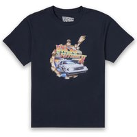 Back To The Future Clockwork T-Shirt - Navy - L - Navy from Back to the Future