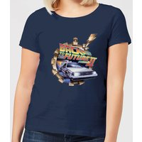 Back To The Future Clockwork Women's T-Shirt - Navy - L - Navy from Back to the Future