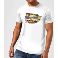 Back To The Future Lasso T-Shirt - White - S - White from Back to the Future