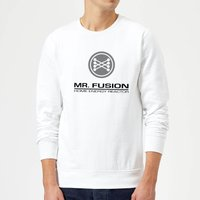 Back To The Future Mr Fusion Sweatshirt - White - XXL - White from Back to the Future
